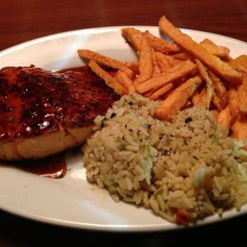 Ruby Tuesday - Gadsden, AL, United States. Bourbon Glazed Salmon, Rice ...