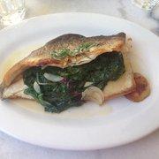 Chez Nous - Charleston, SC, États-Unis. Chard stuffed trout