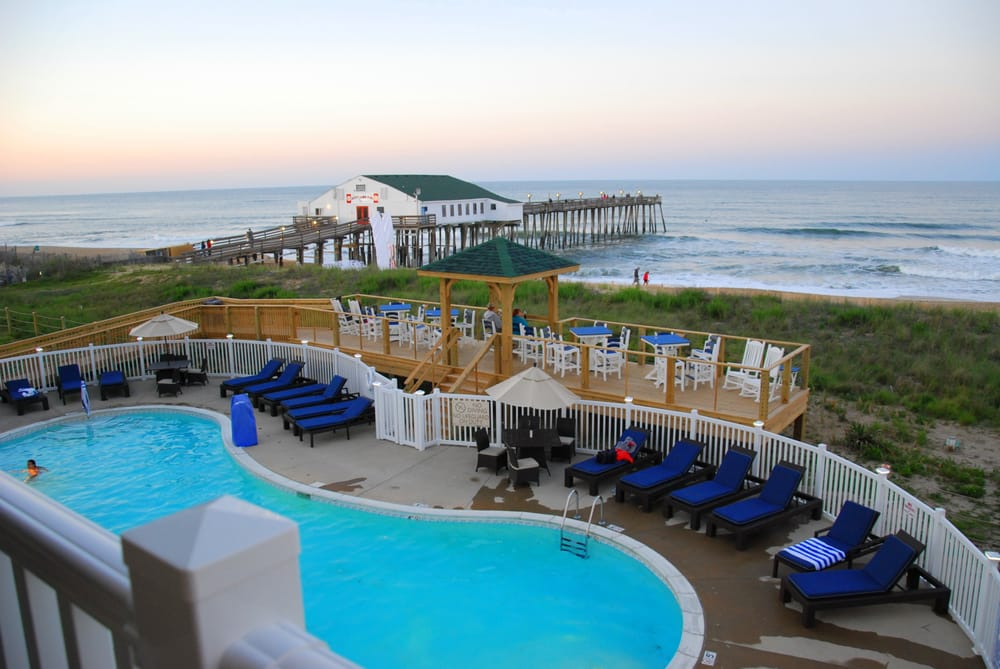 View Of Outdoor Pool And Pier From Our Balcony Yelp