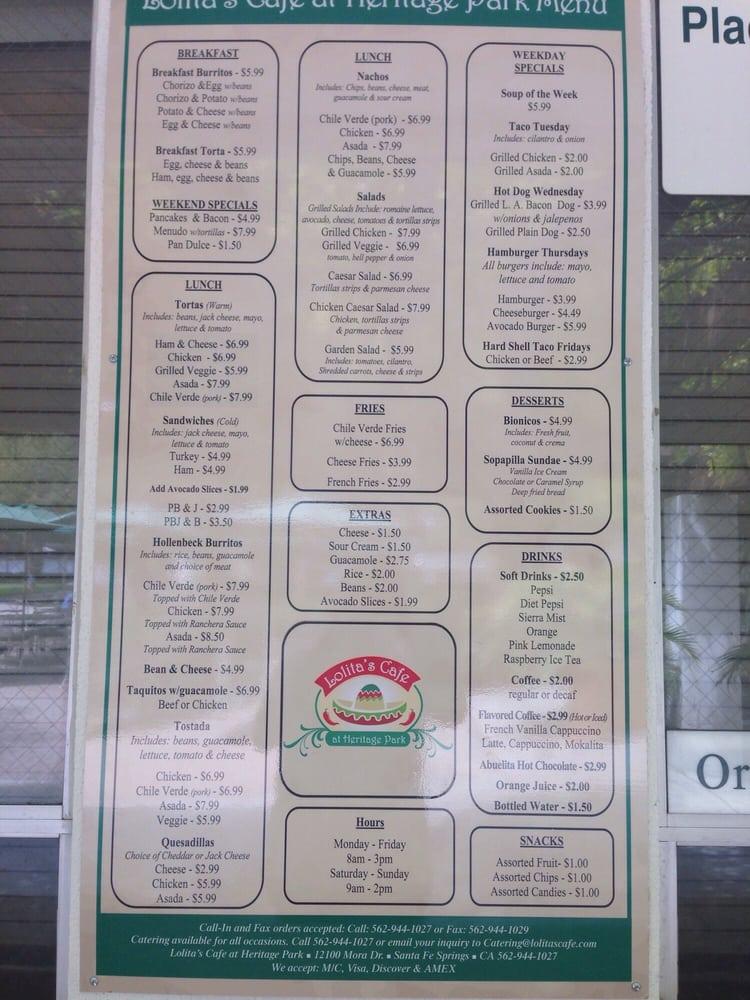 Heritage Park Santa Fe Springs Cafe