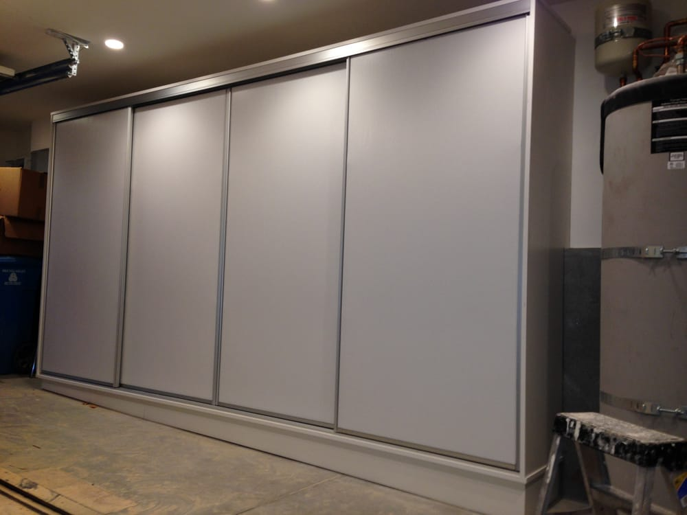 Garage Cabinets With Sliding Doors Park Your Car And