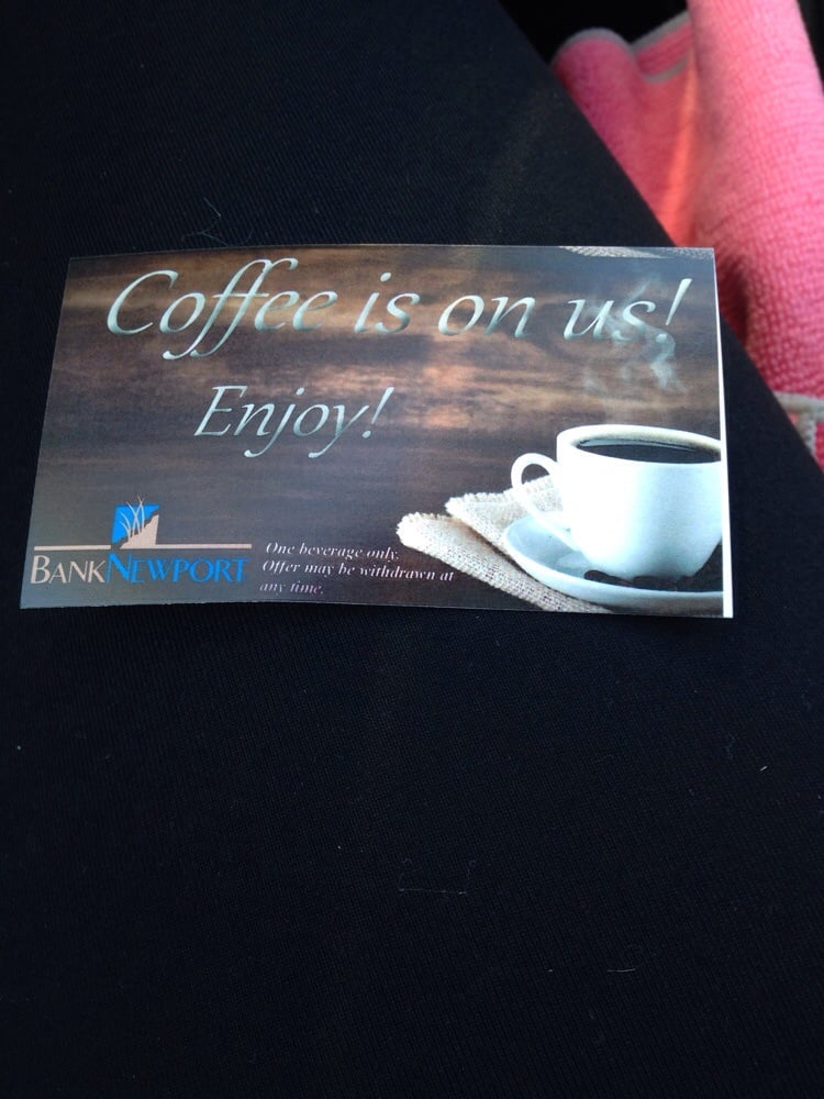 First cup is on Bank Newport! | Yelp