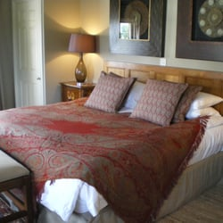 One of the newly refurbished rooms. Flat…