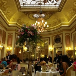 Afternoon tea in the Palm Room (I think)