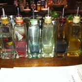 Line-up of cocktail infusions