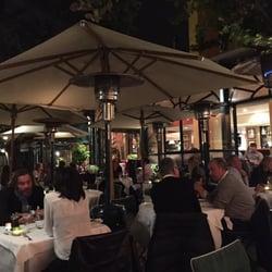 Restaurant La Villa - Marseille, France. Outdoor dining patio.