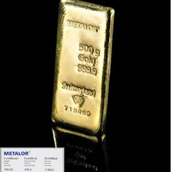 500g gold bars with certificate online at www.bullionbypost.co.uk