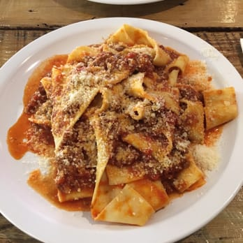 ... - San Francisco, CA, United States. Pappardelle with Bolognese sauce