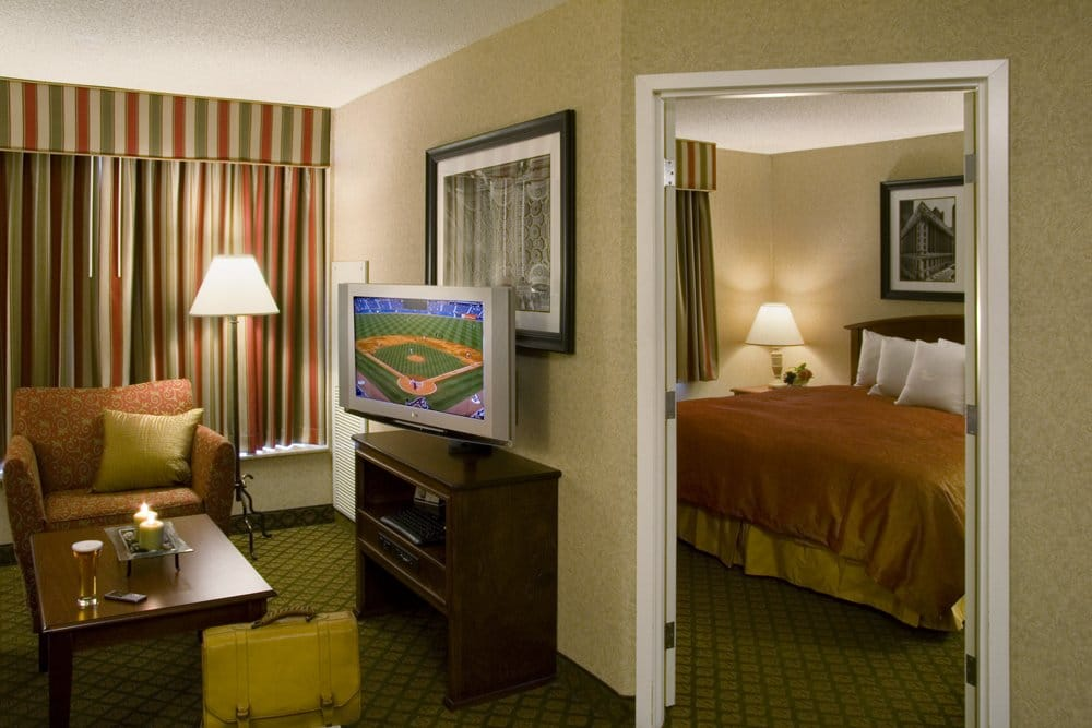 all king suites feature a private bedroom and fully equipped kitchen