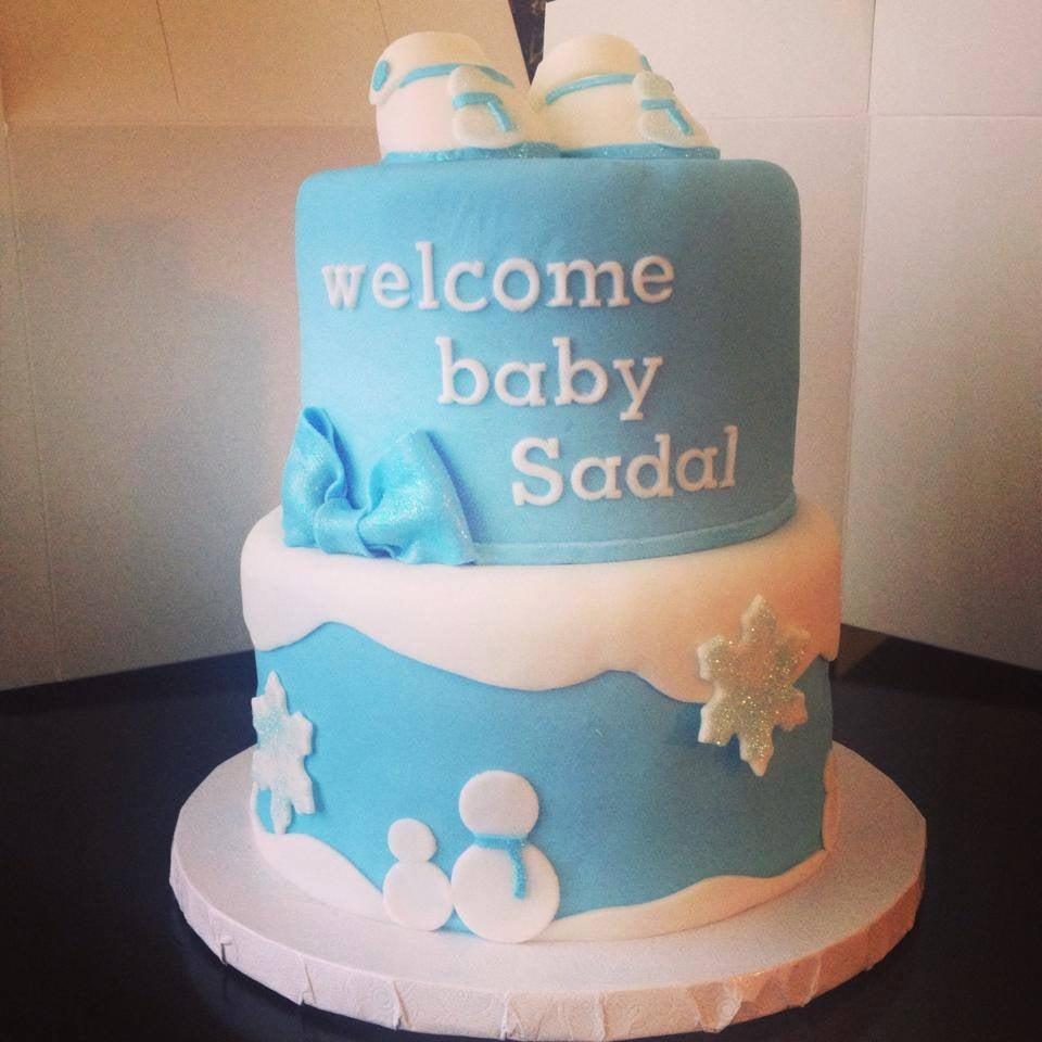 colton ca united states winter wonderland baby shower cake
