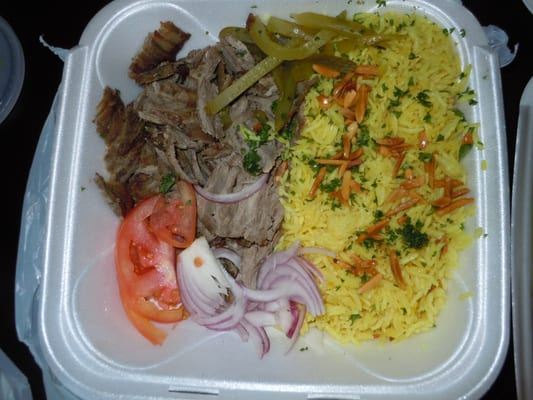 Beef Shawarma Over Rice Beef Shawarma Dinner With Rice