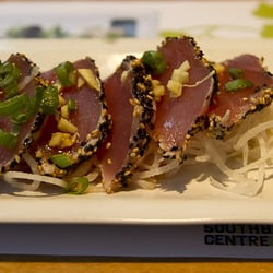 Seared Yellow Fin Tuna, 6 slices (£10.75)