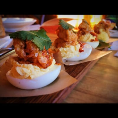 Barrel 31 - Deviled Eggs with Fried Oysters and Bacon - Kansas City ...