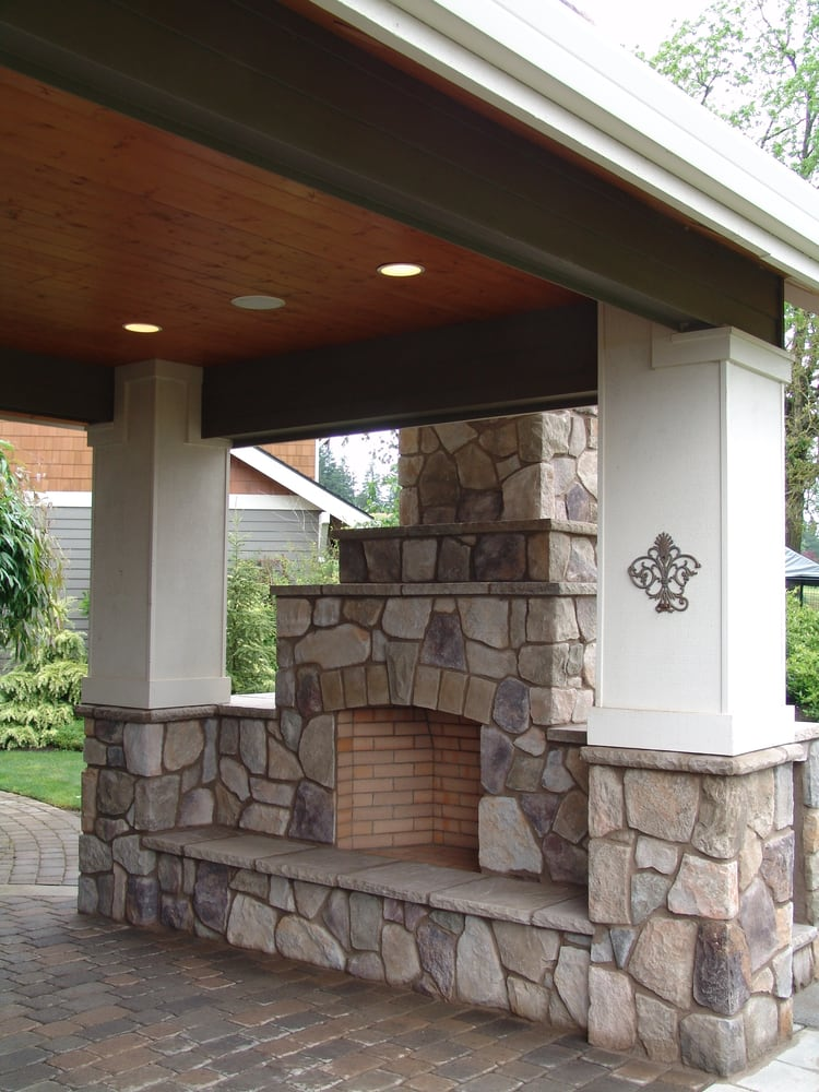 Outdoor Fireplace Outdoor Living Civered Patio Sherwood