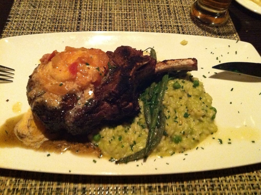 Max's Tavern - Berkshire Pork Chop with apple/chipotle butter, pea ...