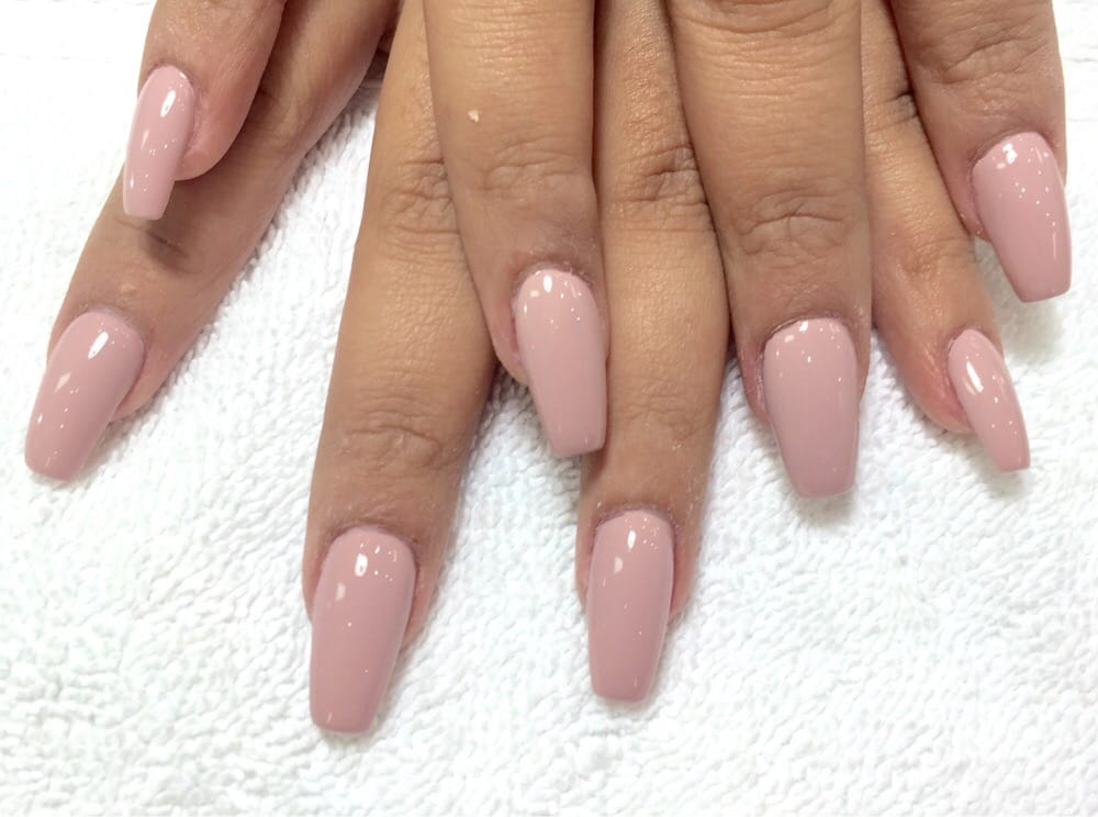 Coffin shaped nails ~ Beautify themselves with sweet nails