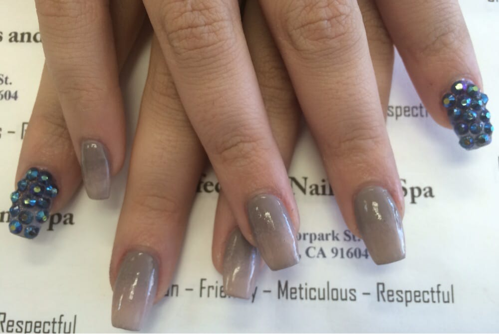Coffin ombrea arcylic nails yelp for A perfect 10 nail salon