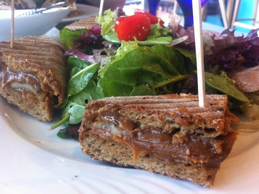 Organic Peanut Butter Panini with Grape Molasses