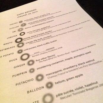 Alinea alinea menu chicago il united states for Alinea cuisine origin