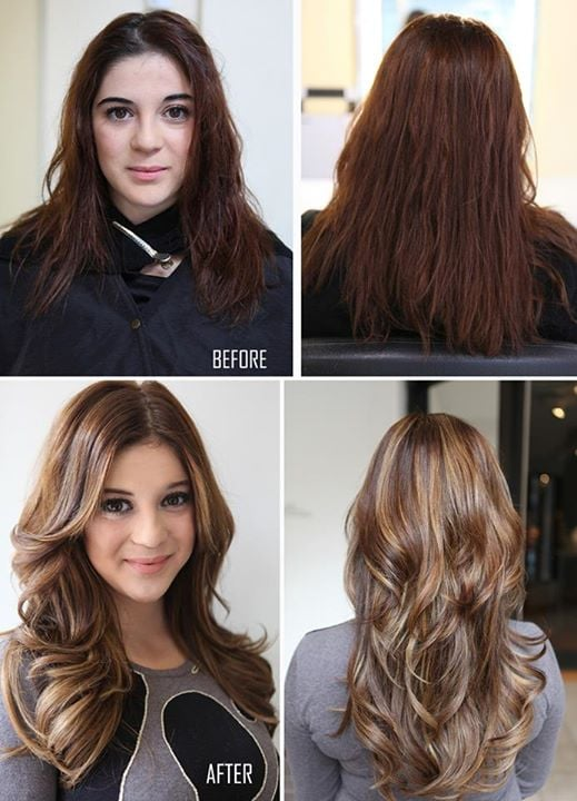 Before Amp After Color Haircut Hair Extensions Amp Keratin