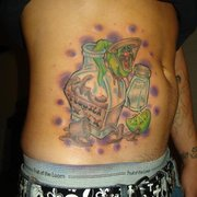 Nic Your Skin - Glendale, AZ, États-Unis. Tequila Bottle with Worm by Nic Mann