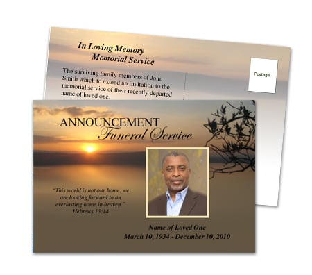 Invite To Funeral Template Memory Memorial Invitation Also – Funeral Invitation Templates
