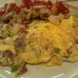 Barb's Country Kitchen - Philly Steak Omelet - Pittsburgh, PA, Vereinigte Staaten