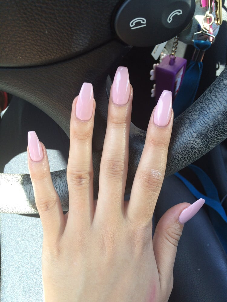 Pale Pink Ballerina Nails