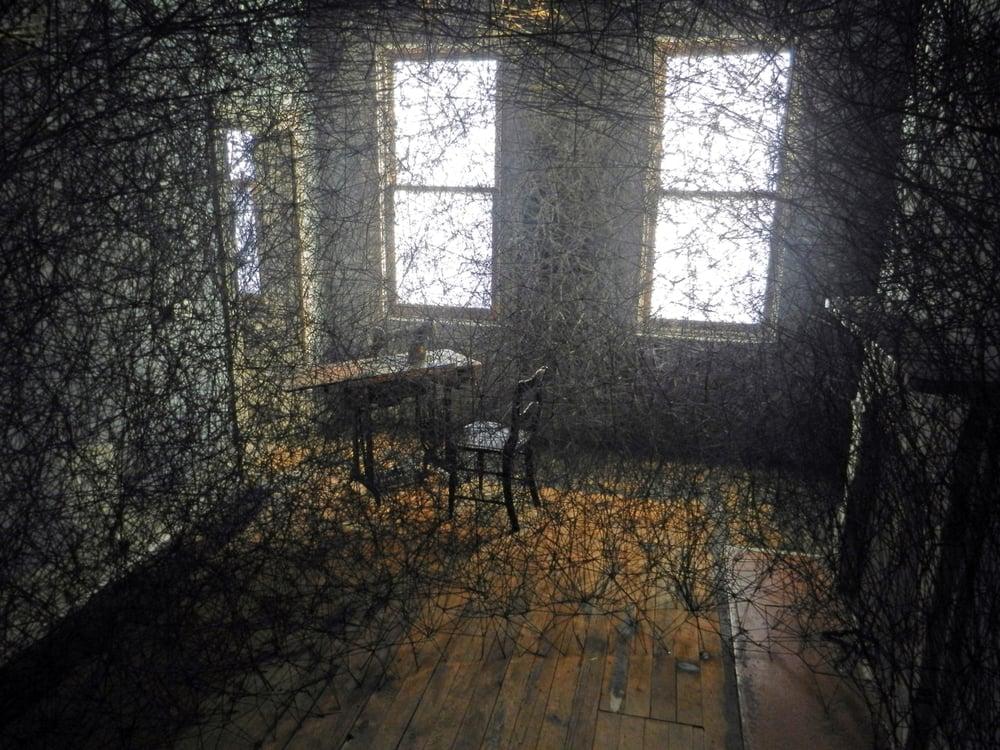 Chiharu Shiota Trace of Memory 2013 yarn mixed media