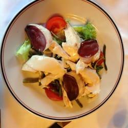 Le Louchébem - Paris, France. duck and chicken salad