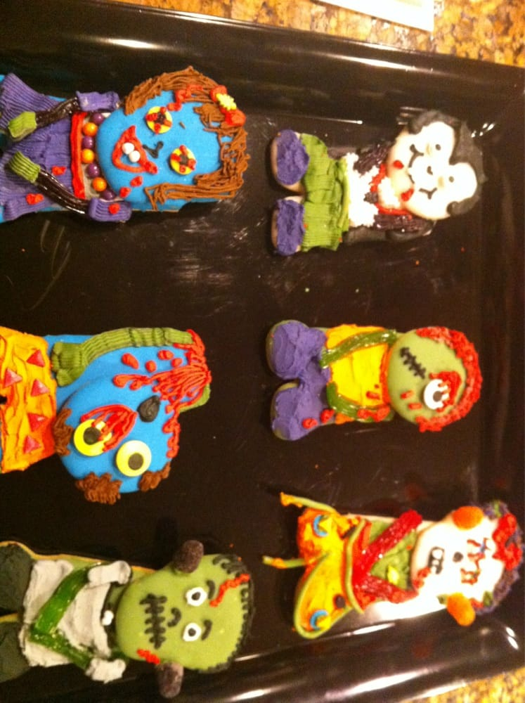 Made these adorable cookies in my zombie cookie class yelp for Abc cake decoration