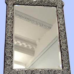 Sterling Silver Mirror by Marshall from 1900 www.mplevene.co.uk