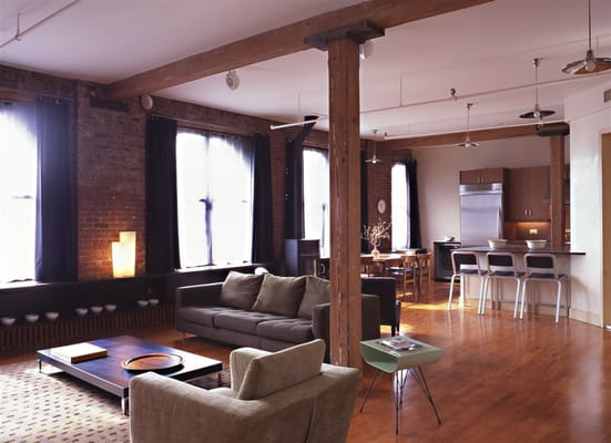 new york city gut renovated loft apartment interior design