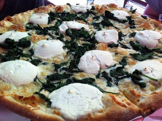 ... had to take care of ricotta spinach white pizza spinach ricotta pizza