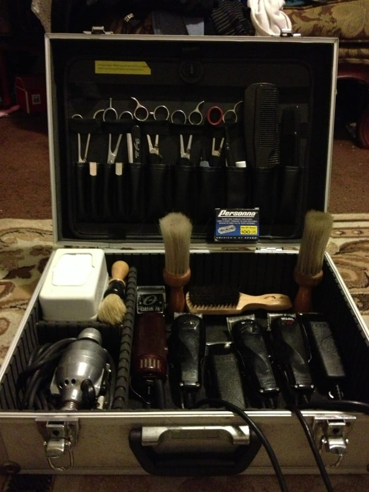Barber Case : Edge Barber Parlor - Whittier, CA, United States. My travel case ...
