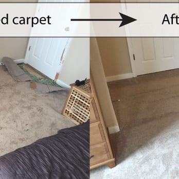JJ Floor Covering - Richmond, VA, United States. Bedroom carpet repair using carpet from a closet