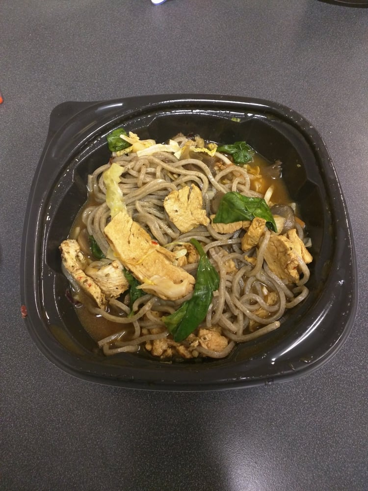 New Chicken Soba Noodle Bowl w/ buckwheat noodles, spinach ...
