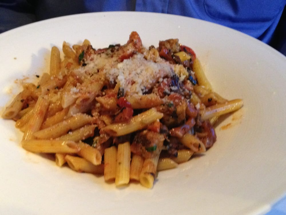 ... Pasta with Sausage in a Vodka Sauce. Tasty but not a creamy rosa vodka