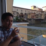 Dinner w a view of Ponte Vecchio Bridge