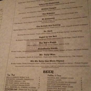Finka table tap miami fl united states drink menu for Table 52 drink menu
