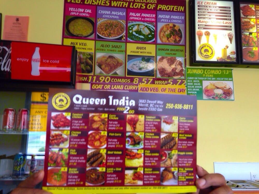 Queen india food 2 go indian merritt bc yelp for Cuisine 2 go