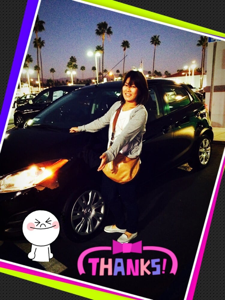 Tustin Mazda - Tustin, CA, United States. With my lovely car :) Thank you so much Harvey!!!!