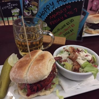 ... hour beer and a frog burgers with side salad. Great after work reward