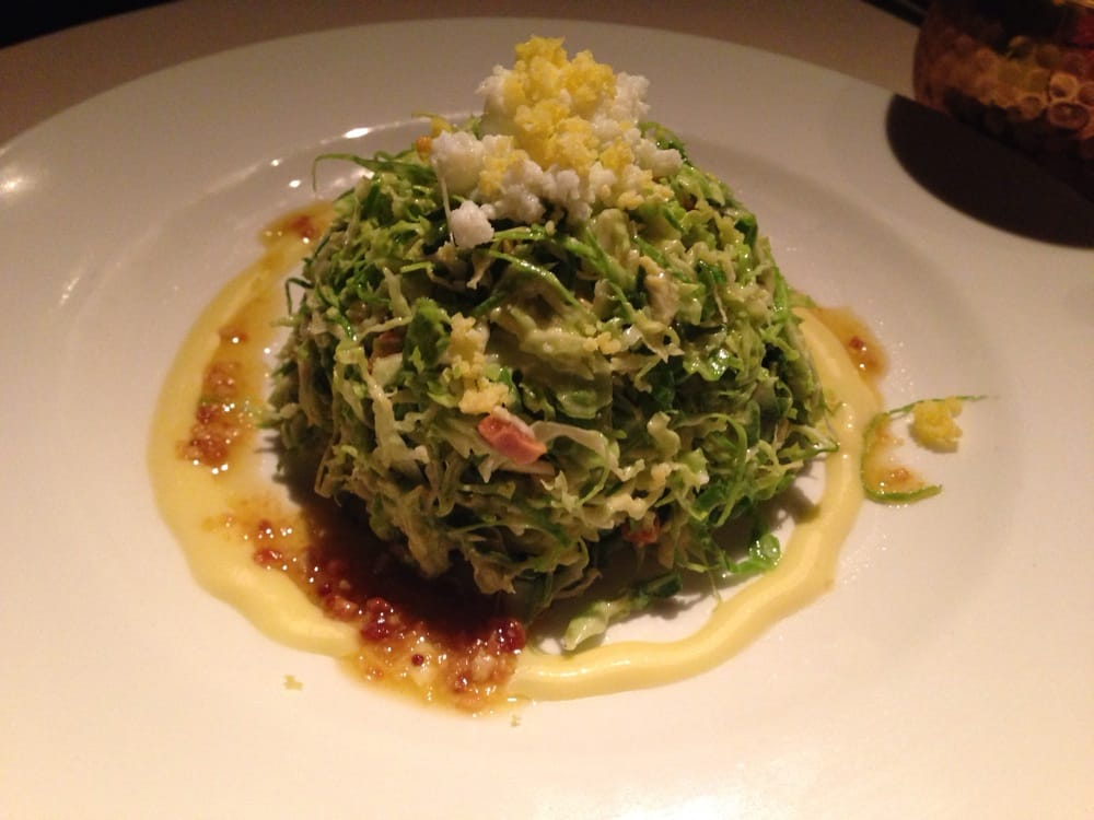Shaved Brussels Sprouts Salad With Marcona Almonds And ...