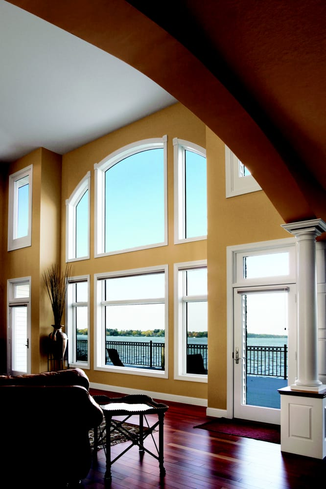 Beautiful transom double hung fixed windows and doors for Energy star vinyl windows