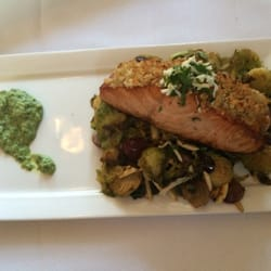 Pairings Palate + Plate - Horseradish crusted salmon with brussel ...