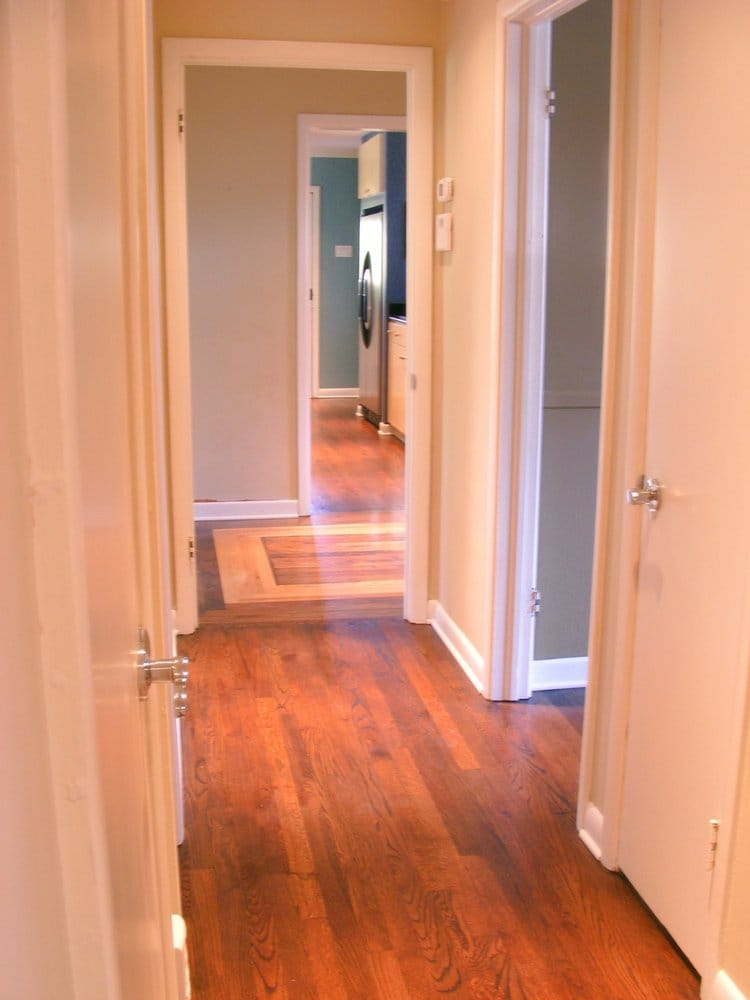 Refinished Oak With Antique Brown Stain Satin Finish