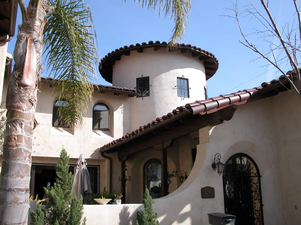 North Park Custom Home Spanish Colonial Architecture