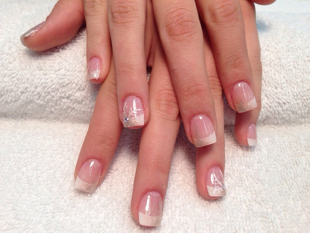 Ombre Nails Pink Glitter Nails With Ombr Glitter