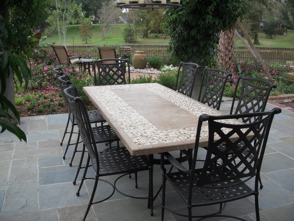 Stone top dining table with outdoor chairs from Bay Breeze  : o from www.yelp.com size 1000 x 750 jpeg 167kB